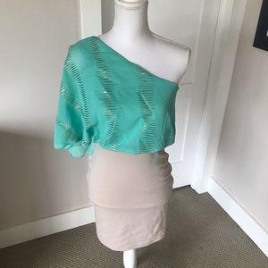 Body Central One Shoulder Dress, S